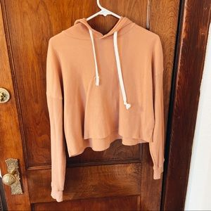 Cropped Forever 21 Hoodie (Peach Colored)